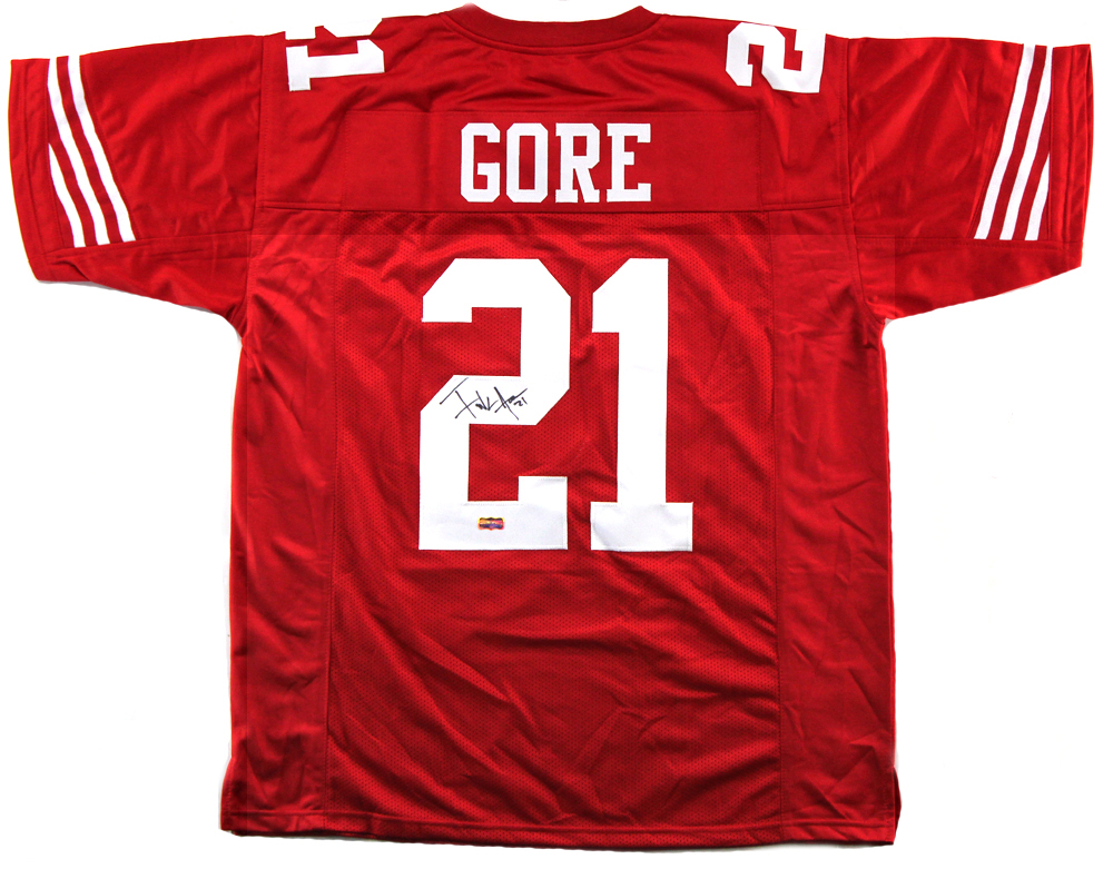 finest selection ca136 419c2 Frank Gore Signed San Francisco 49ers Custom Red Jersey