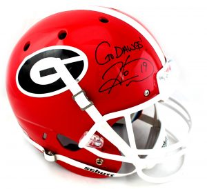 "Hines Ward Signed Georgia Bulldogs Schutt Full Size NCAA Helmet With ""Go Dawgs"" Inscription -0"