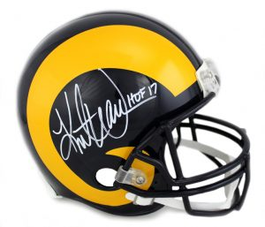 39582ba380b Kurt Warner Signed Arizona Cardinals Throwback Full Size Authentic Helmet  With