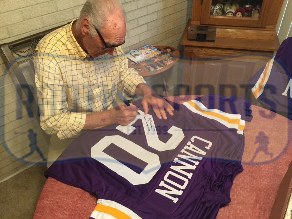 Billy Cannon Signed LSU Custom Purple Jersey with