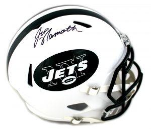 Joe Namath Signed New York Jets Full Size Speed Helmet-0