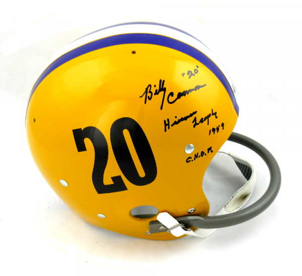 "Billy Cannon Autographed/Signed LSU Tigers Full Size RK Suspension Helmet ""Heisman '59 CHOF""-0"