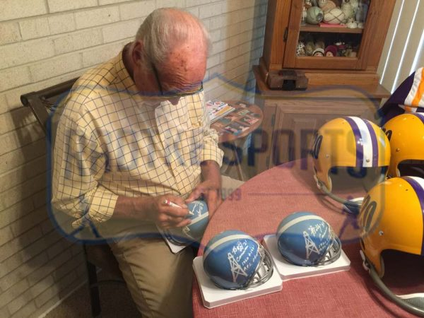 "Billy Cannon Autographed/Signed LSU Tigers Full Size RK Suspension Helmet ""Heisman '59 CHOF""-23365"