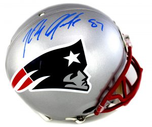 Rob Gronkowski Autographed/Signed New England Patriots Riddell Authentic NFL Helmet-29239