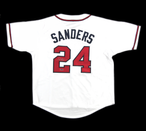 Deion Sanders Signed Atlanta Braves White Custom Jersey-0