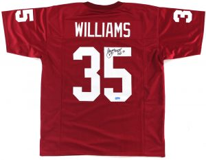 "Aeneas Williams Signed Arizona Cardinals Red Custom Jersey ""HOF 2014"" Inscription-0"