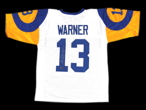 Kurt Warner Signed Los Angeles Rams White Custom Jersey-0