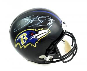 Steve Smith Sr Signed Baltimore Ravens Riddell Full Size NFL Helmet-0