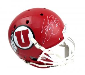 Steve Smith Sr Signed Utah Utes Schutt Full Size NCAA Helmet-0