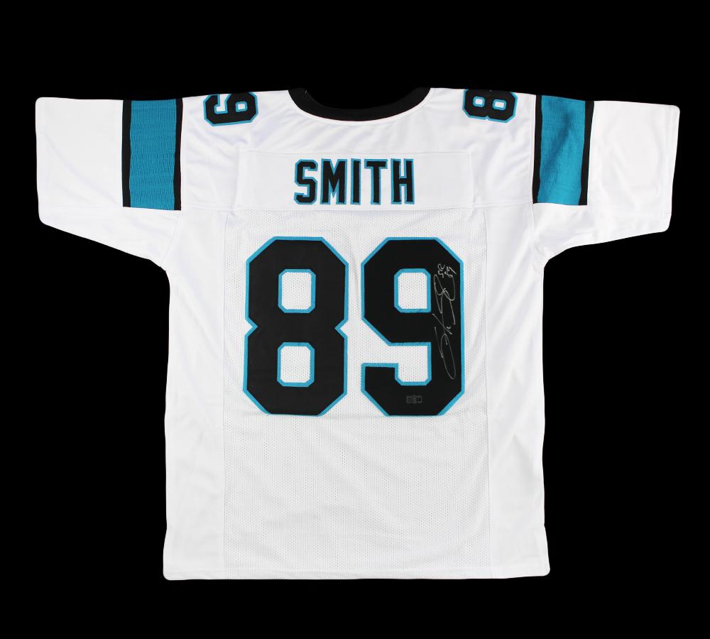 Steve Smith Sr Signed Carolina Custom White Jersey - Signed the 9
