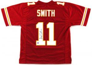 Alex Smith Signed Kansas City Chiefs Red Custom Jersey-0