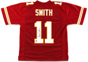 Alex Smith Signed Kansas City Chiefs Red Custom Jersey-0