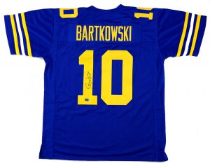 Steve Bartkowski Signed California Golden Bears Blue Custom Jersey-0