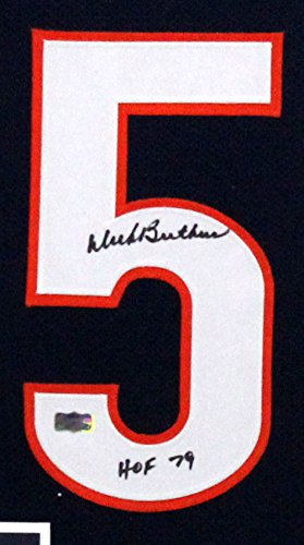 the latest ee875 aa7ba Dick Butkus Signed Bears Framed Custom Blue NFL Jersey with