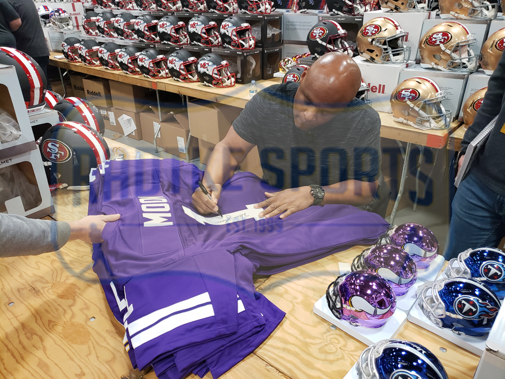 sports shoes 9832a 1ea18 Warren Moon Signed Washington Huskies Purple Custom Jersey With
