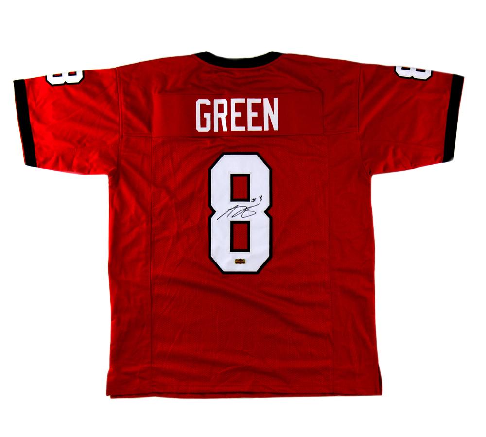 A.J. Green Signed Georgia Custom Red Jersey