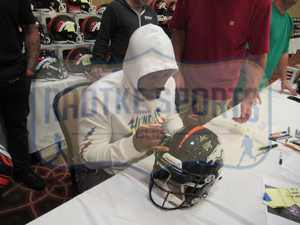 innovative design c8c59 4c0f6 Von Miller Signed Denver Broncos Speed Authentic NFL Helmet