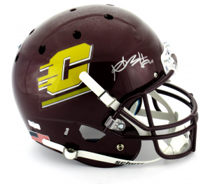 Antonio Brown Signed Central Michigan Chippewas Schutt XP Full Size NCAA Helmet - JSA-0