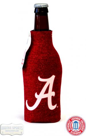 Alabama Crimson Tide Officially Licensed 12oz Neoprene Glitter Bottle Koozie-0