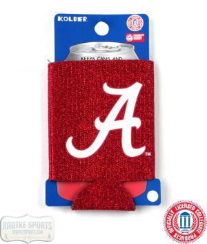 Alabama Crimson Tide Officially Licensed 12oz Neoprene Glitter Can Koozie-0