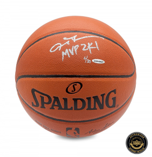 Allen Iverson Signed 76ers Spalding Indoor/Outdoor Basketball - MVP 2001-0