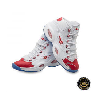 Allen Iverson Signed Reebok Question Mid Shoes with Red Toe - 76ers-0