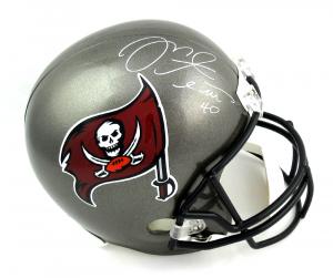 Mike Alstott Signed Tampa Bay Buccaneers Riddell Full Size NFL Helmet-0