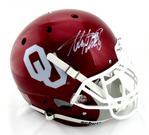 Adrian Peterson Signed Oklahoma Sooners Schutt Authentic NCAA Helmet-0