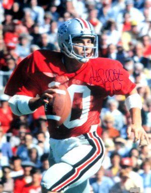 Art Schlichter Signed Ohio State Buckeyes Vintage 16x20 Photo-0