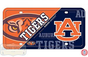 Auburn Tigers Officially Licensed NCAA Metal License Plate-0