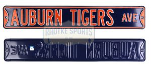 Auburn Tigers Avenue Officially Licensed Authentic Steel 36x6 Blue & Orange NCAA Street Sign-0