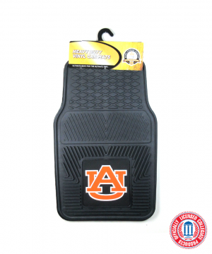 Auburn Tigers Officially Licensed 17x27 Heavy Duty Vinyl NCAA Car Mats Set-0