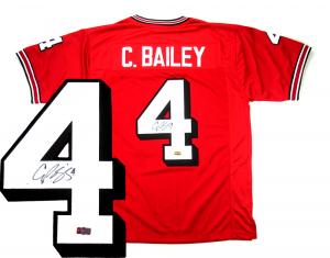 Champ Bailey Signed Georgia Bulldogs Custom Red Jersey-0