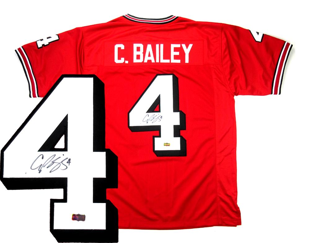 Champ Bailey Signed Georgia Bulldogs Custom Red Jersey