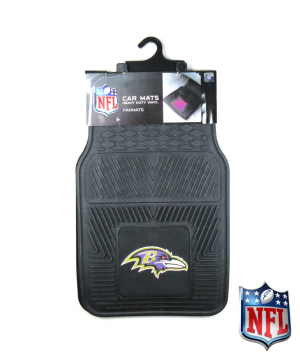 Baltimore Ravens Officially Licensed 17x27 Heavy Duty Vinyl NFL Car Mats Set-0