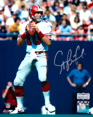Steve Bartkowski Signed Atlanta Falcons Throwback 8x10 NFL Photo - White Jersey-0