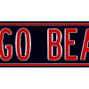 Chicago Bears Avenue Officially Licensed Authentic Steel 36x6 Blue & Orange NFL Street Sign-9036