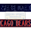 Chicago Bears Avenue Officially Licensed Authentic Steel 36x6 Blue & Orange NFL Street Sign-0