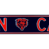 Chicago Bears Man Cave Officially Licensed Authentic Steel 36x6 Blue & Orange NFL Street Sign-7721