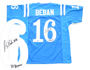"Gary Beban Signed UCLA Bruins Throwback Powder Blue Jersey with ""Heisman 67"" Inscription-0"