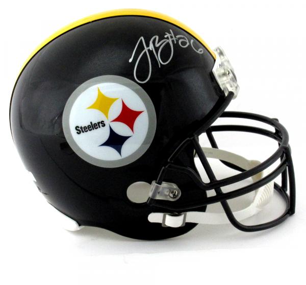 LeVeon Bell Signed Pittsburgh Steelers Riddell Full Size Black NFL Helmet-8756