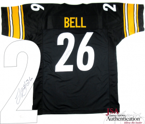 LeVeon Bell Signed Pittsburgh Steelers Black Custom Jersey - JSA-0