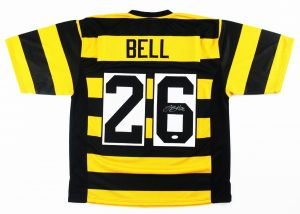 LeVeon Bell Signed Pittsburgh Steelers Bumble Bee Custom Jersey - JSA-0