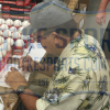 """Johnny Bench Autographed/Signed Official Rawlings Major League Baseball with """"HOF 89"""" Inscription-13086"""