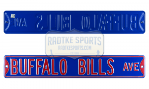 Buffalo Bills Avenue Officially Licensed Authentic Steel 36x6 Blue & Red NFL Street Sign-0