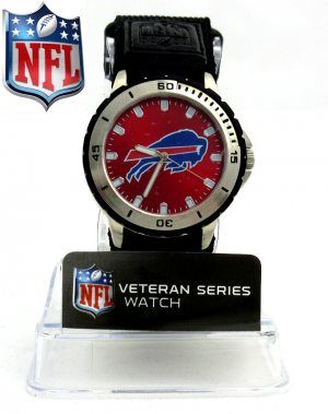 Buffalo Bills Officially Licensed GameTime Veteran Series Men's Watch-0