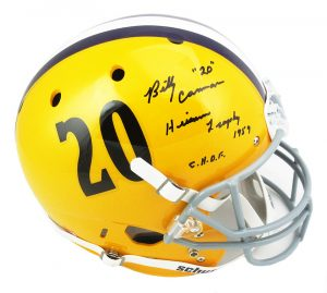 "Billy Cannon Signed LSU Tigers Schutt Throwback Full Size Helmet with ""1959 Heisman Trophy - CHOF"" Inscription-0"