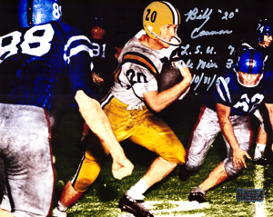 "Billy Cannon Signed LSU Tigers Iconic 8x10 Color Photo With ""LSU 7 Ole Miss 3 10/31/59"" Inscription-0"