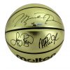 Michael Jordan, Michael Johnson and Larry Bird Signed Molten Gold NBA Basketball - Limited Edition of 92 - UDA-9097