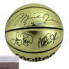 Michael Jordan, Michael Johnson and Larry Bird Signed Molten Gold NBA Basketball - Limited Edition of 92 - UDA-0